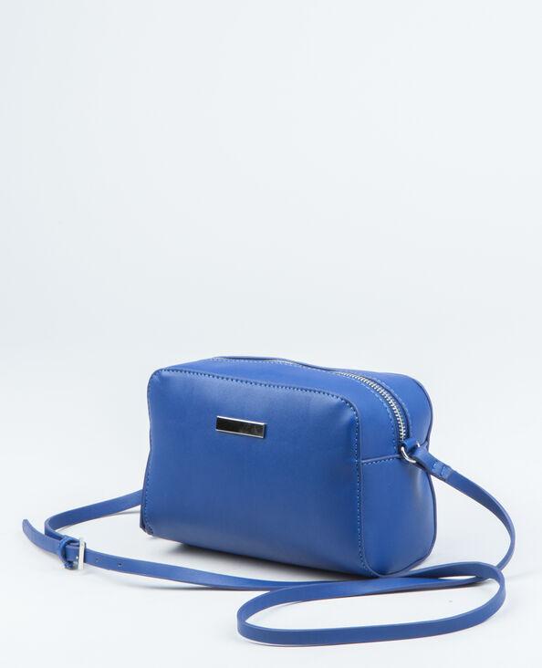 Boxy-Tasche Metallic-Blau