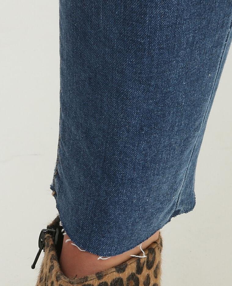Skinny-Jeans Raw-Cut Blau