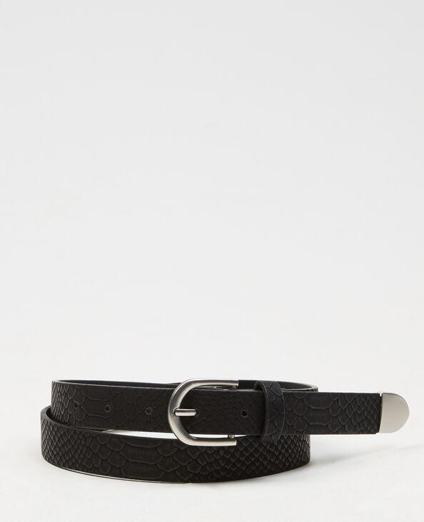 Cinturón efecto serpiente negro