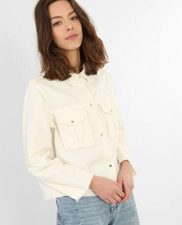 Jeansjacke in Weiß Altweiß