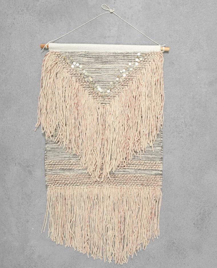 tapisserie murale tiss e avec sequins rose 902885a20f02 pimkie. Black Bedroom Furniture Sets. Home Design Ideas