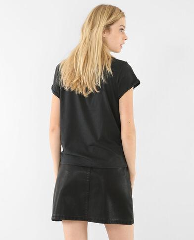 Rockiges T-Shirt Schwarz