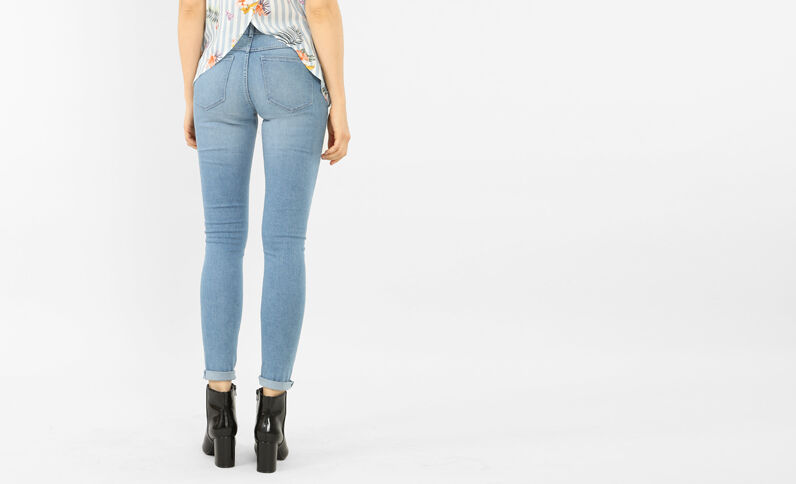Basic jegging Lichtblauw