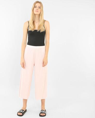 Jupe culotte plissée rose