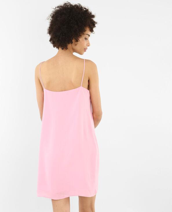 Kleid mit gekreuztem Ausschnitt Rosa
