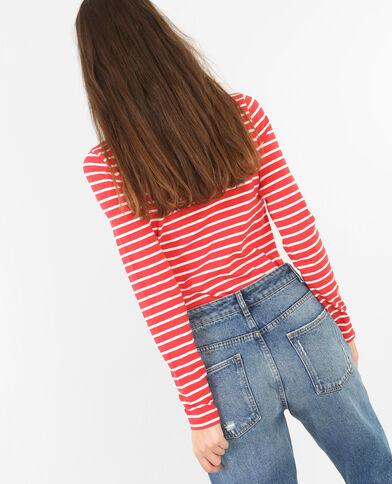 Camiseta a rayas rojo