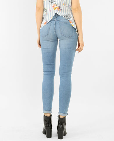 Basic-Jeggings Hellblau