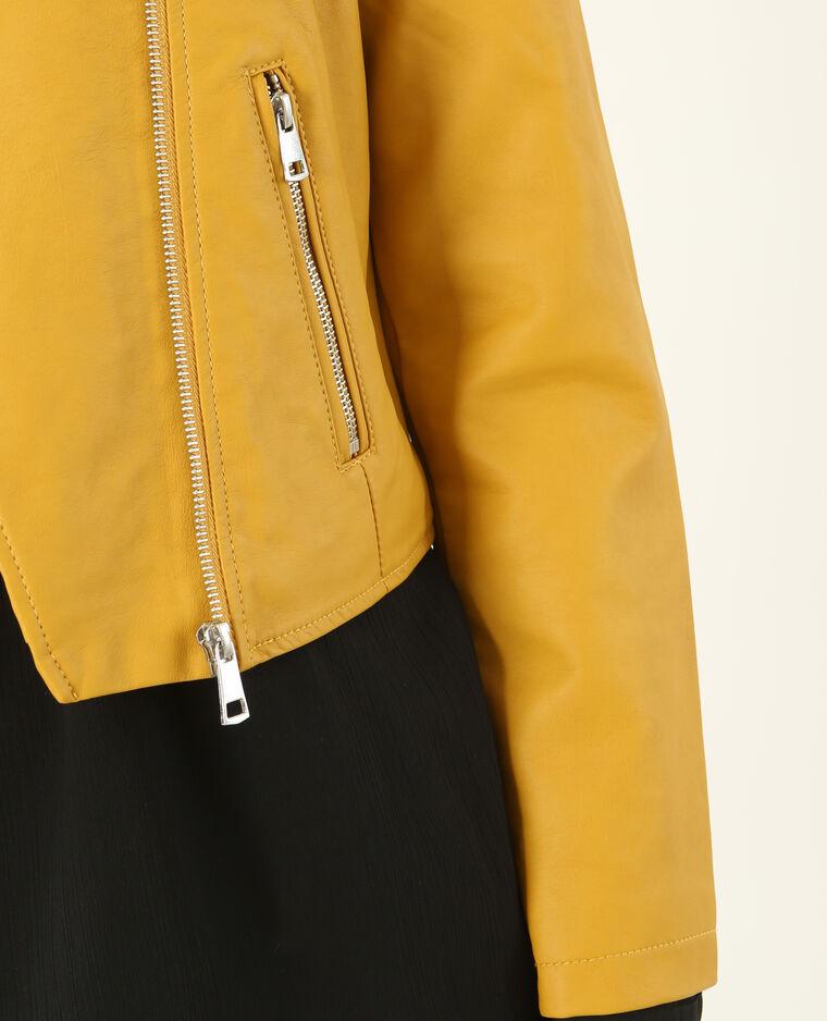veste en simili cuir jaune moutarde 323174003a00 pimkie. Black Bedroom Furniture Sets. Home Design Ideas