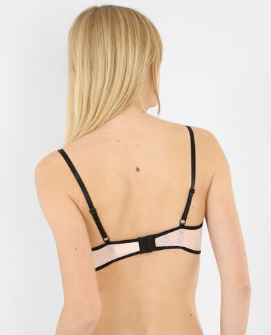 Soutien-gorge corbeille bords contrastants rose