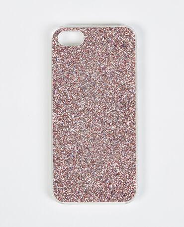 Coque iphone glitter rose