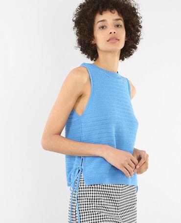 Top tricoté blu