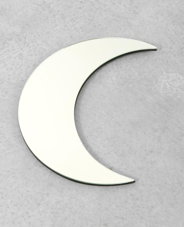 Miroir croissant de lune rose