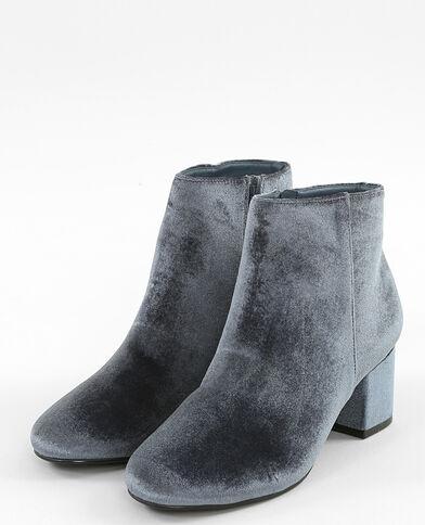Boots velours gris