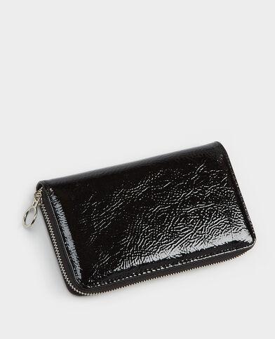 Portefeuille compagnon en vinyle noir