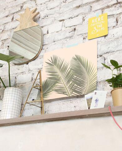 Houten spiegel in ananasvorm taupebeige