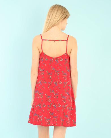 Vestido estampado rojo