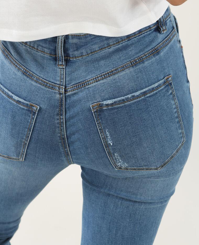 Jean skinny destroy bleu denim