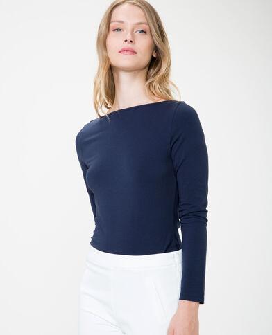 T-shirt basic blu marino