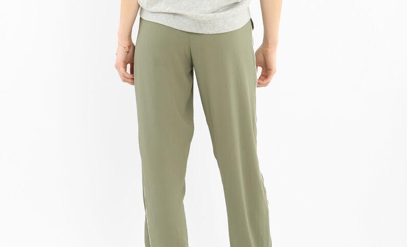 Pantalone da jogging morbido con fasce verde