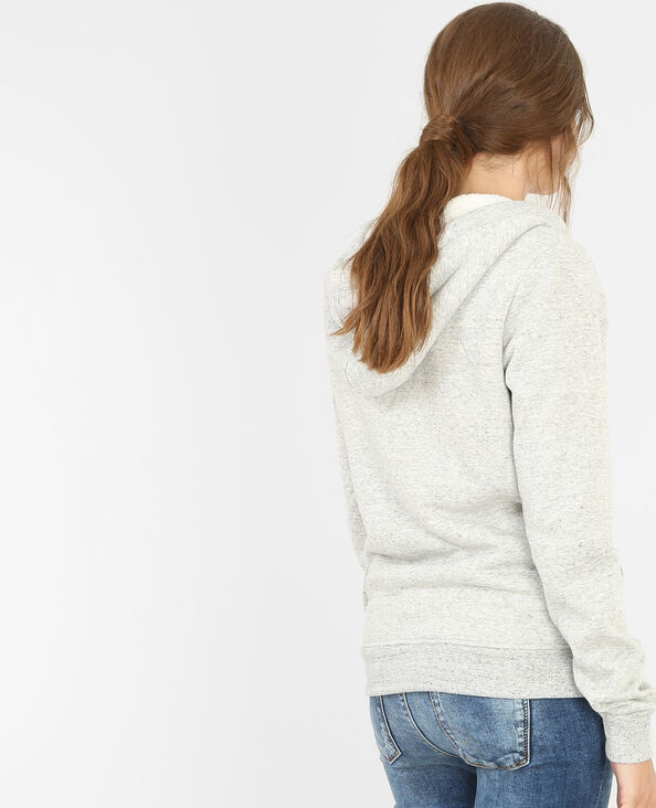 Sweat zippé fourré gris