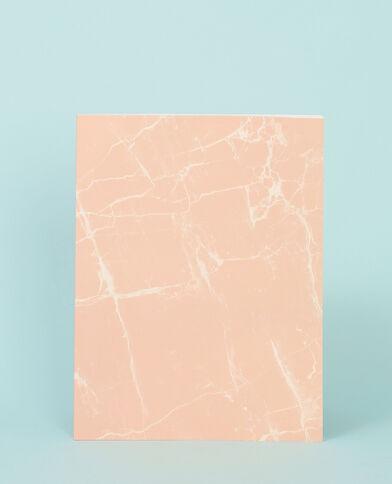 Cuaderno grande efecto mármol rosa