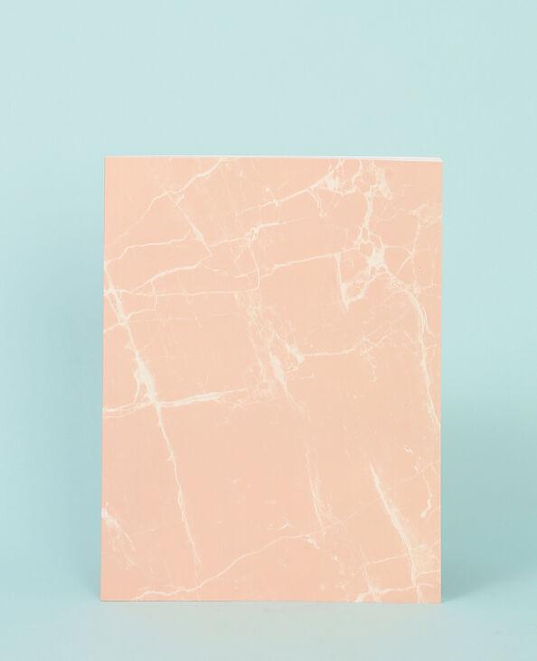 Grande quaderno marmorizzato rosa