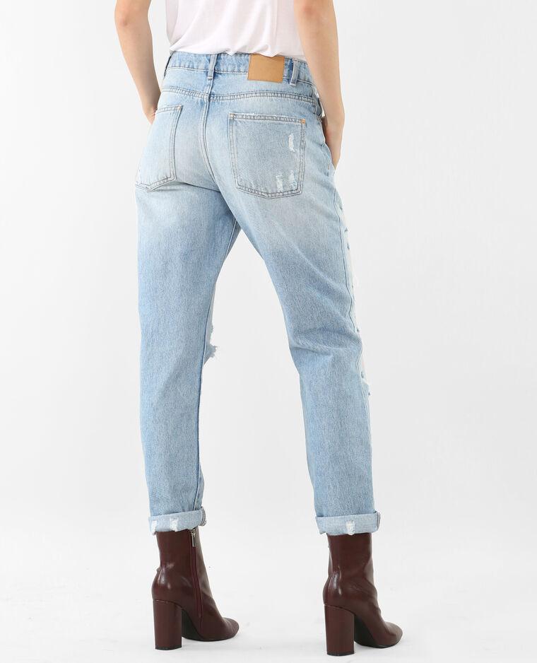 mom jeans im destroyed look blau 140153684a06 pimkie. Black Bedroom Furniture Sets. Home Design Ideas