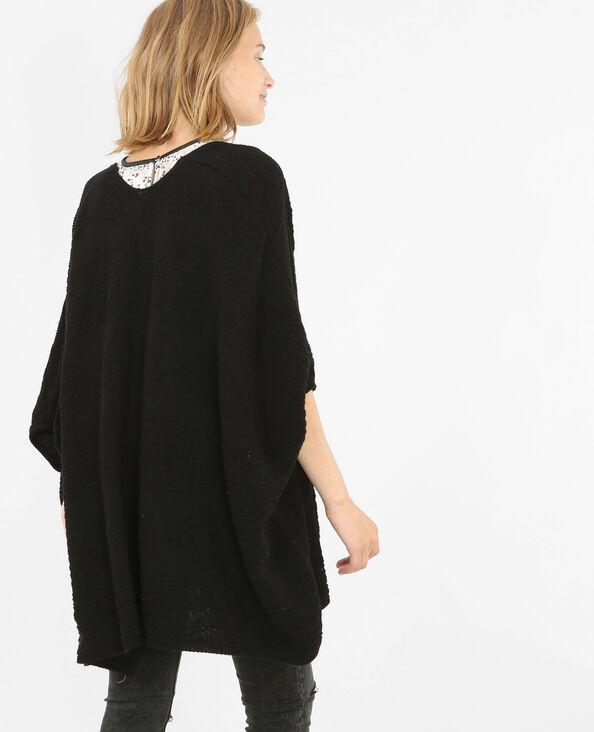 Cardigan kimono nero