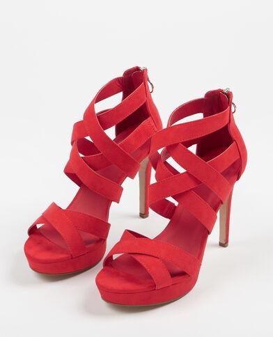 Sandalias de tacón alto rojo