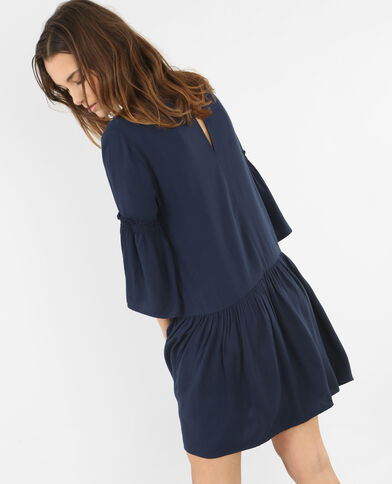 Robe à basque bleu marine