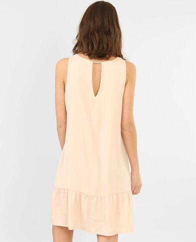 Peplum-Kleid aus Satin Altrosa