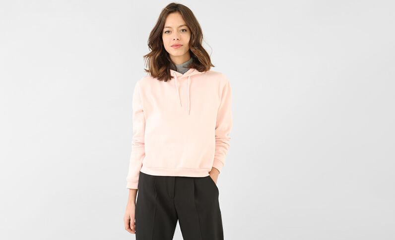 Kapuzen-Sweatshirt Altrosa