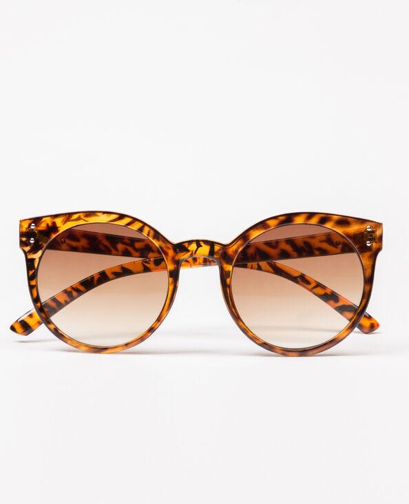 Occhiali da sole a forma di occhi di gatto marrone