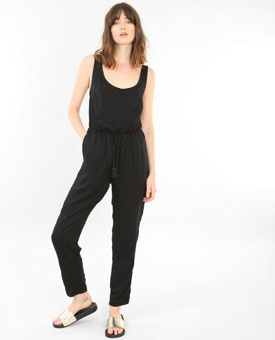Jumpsuit met open rug zwart