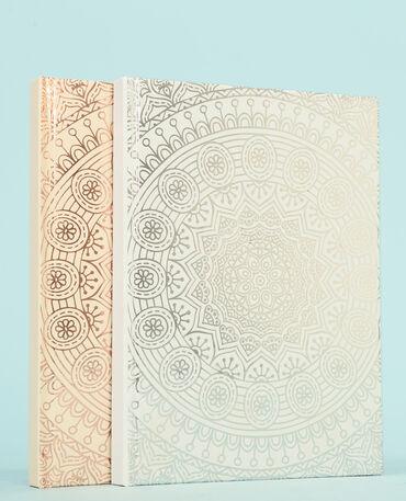 Set van grote notitieboekjes grijs