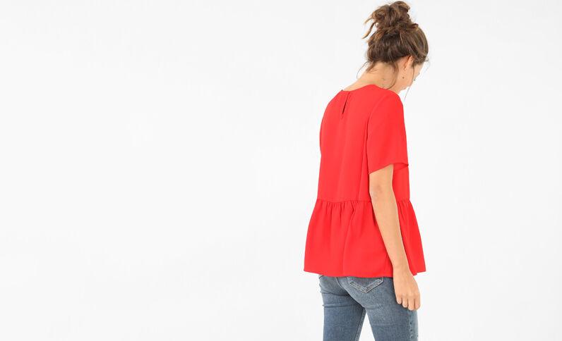 Blusa ancha rojo