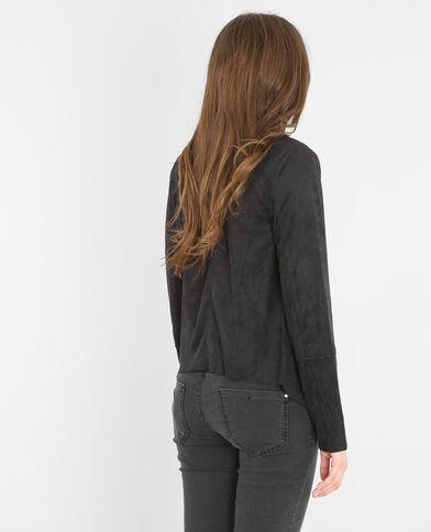 Jacke mit Zipfeln Schwarz