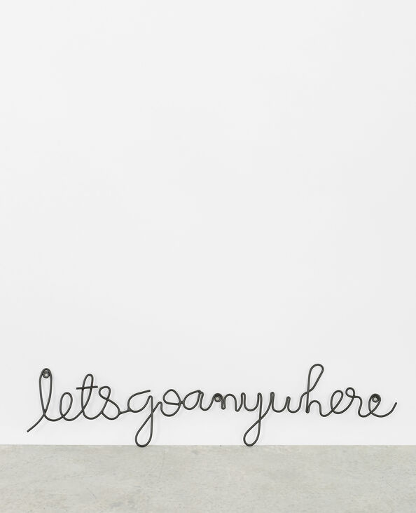 "Mural decorativo ""Let's go anywhere"" negro"
