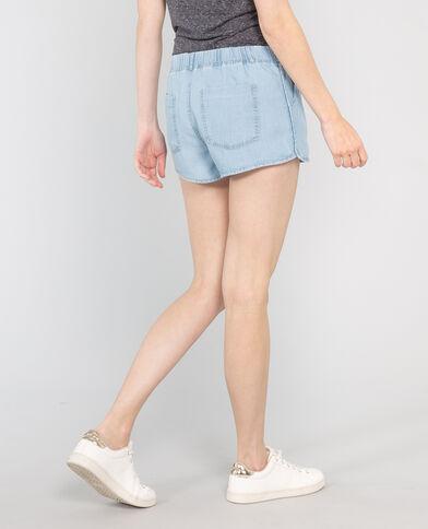 Weich fließende Jeans-Shorts Hellblau