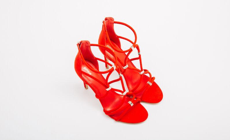 Sandales talons aiguilles rouge