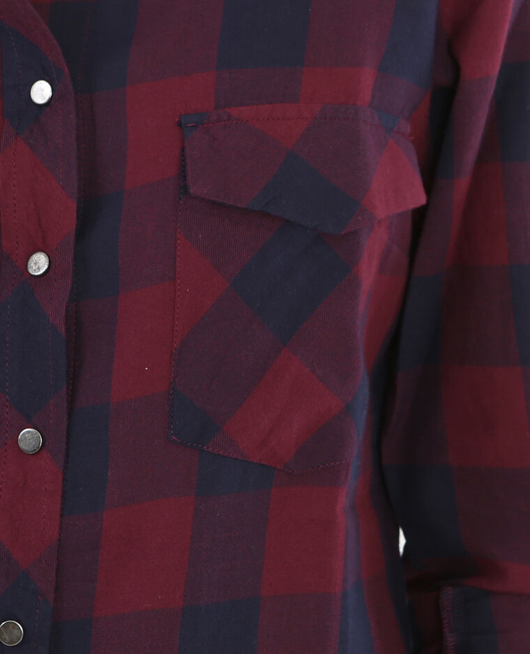 Camicia a quadri rosso scuro