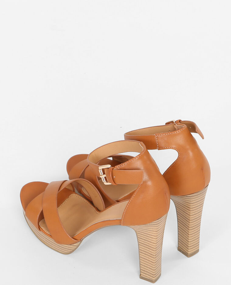 sandaletten mit absatz kastanienbraun 988067747a07 pimkie. Black Bedroom Furniture Sets. Home Design Ideas