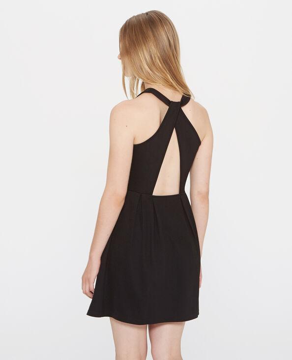 Kleid mit im Rücken gekreuzten Trägern Schwarz