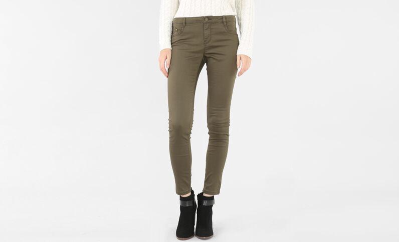 Pantalone slim kaki