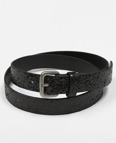 Cintura glitter nero