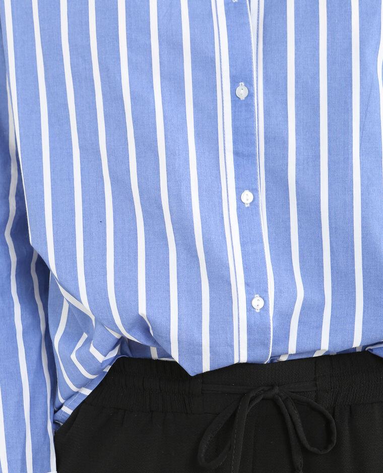 Chemise coton rayée Bleu jean