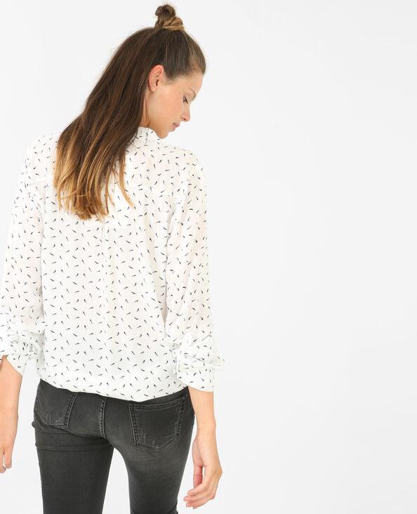 Camicia stampato bianco sporco