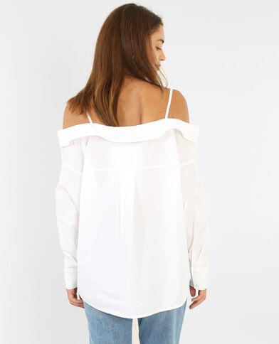 Chemise à épaules dénudées écru