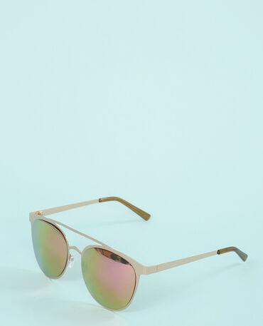 Brille mit verspiegelten Gläsern Gelb