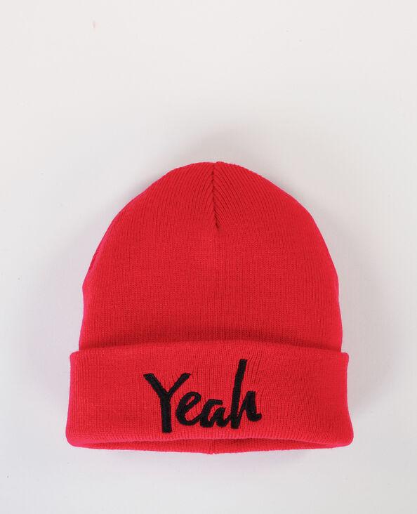 Mütze mit Schriftzug Rot
